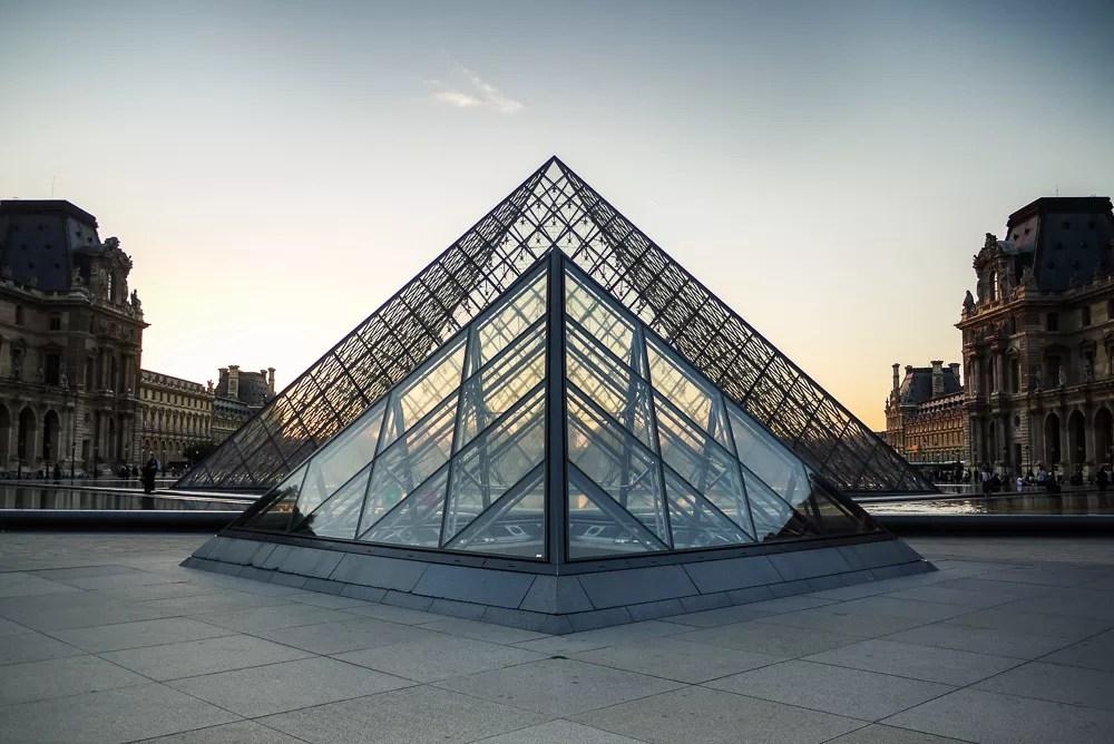 Paris Louvre At Dusk