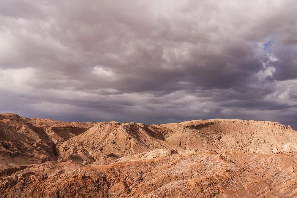 Dry Arid Lunar Landscapes of Valle De La Luna