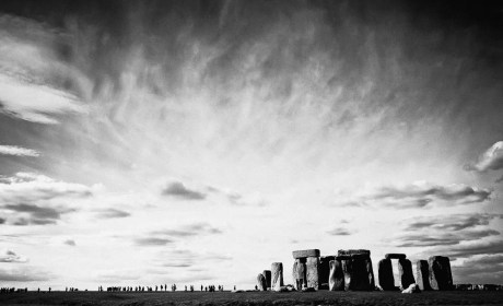 Visitors At Stonehenge in England