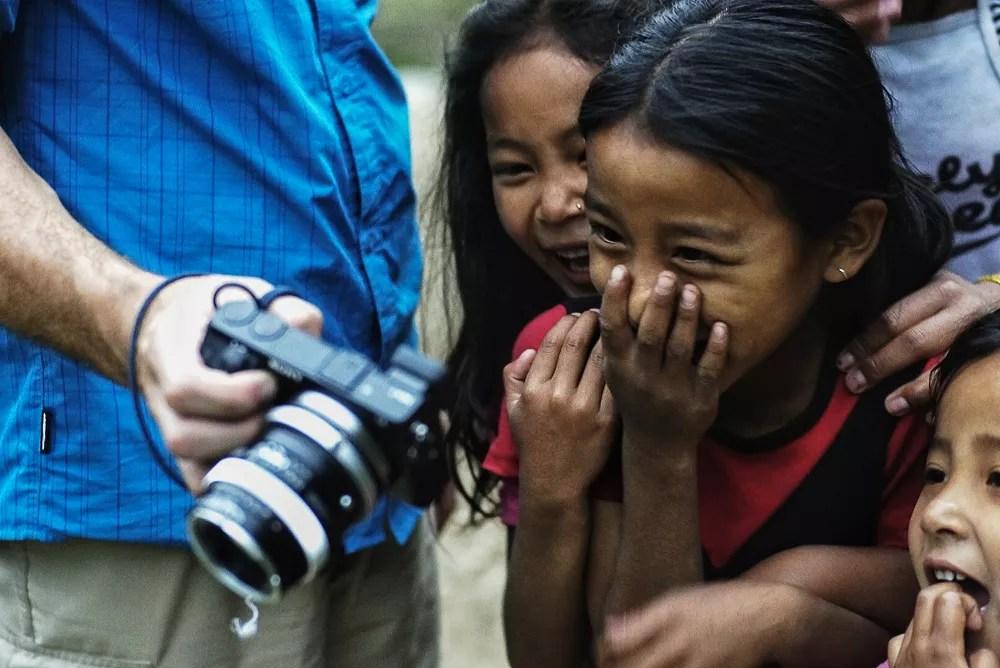 Village Children On Annapurna Circuit