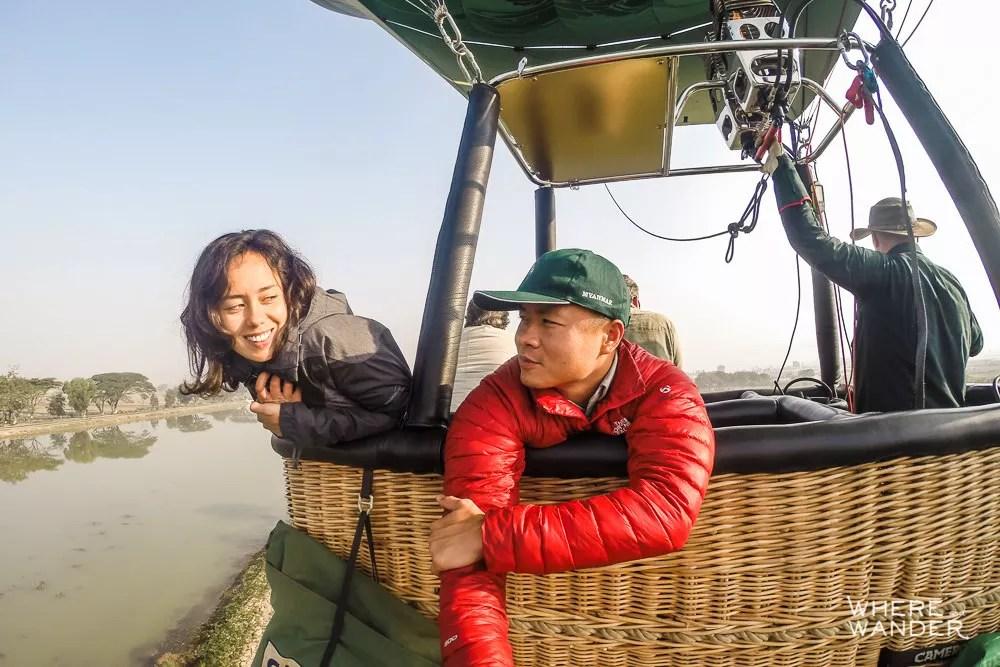Epic Hot Air Balloon GoPro Selfie In Myanmar