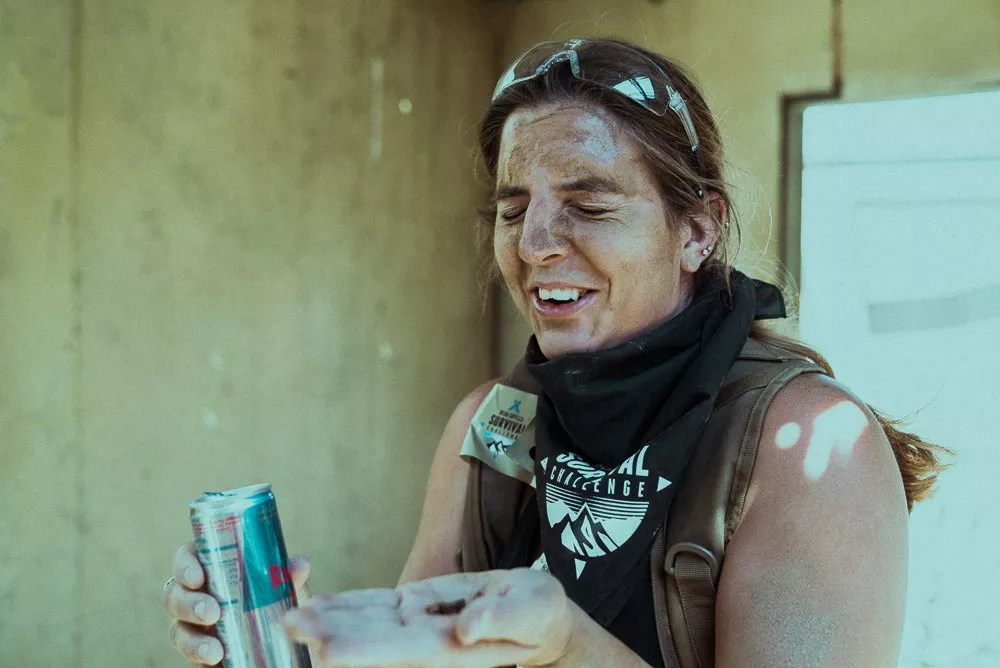 Racer Eating Crickets At Bear Grylls Survival Challenge