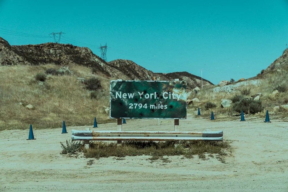Post Apocalyptic New York Sign At Blue Cloud Movie Ranch