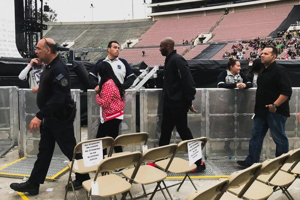 Kobe Bryant at Taylor Swift Rose Bowl Concert