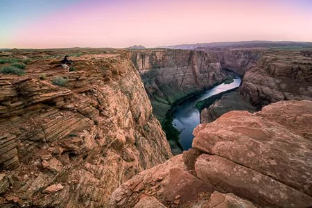 Photographing at Horseshoe Bend