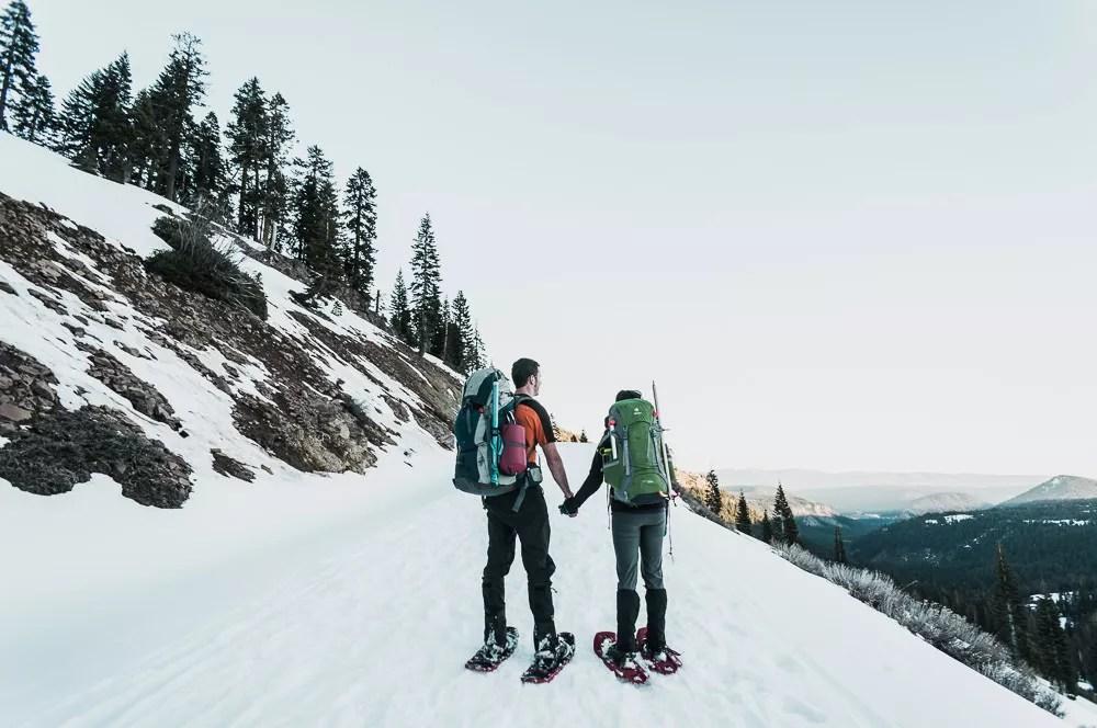 snowshoeing lassen national park