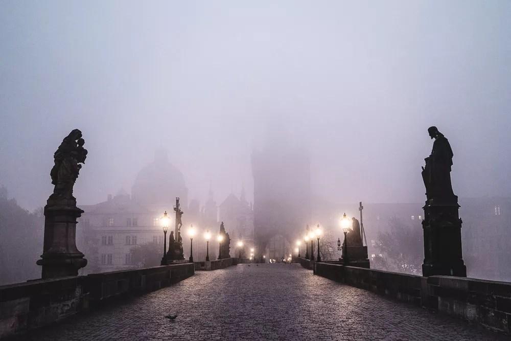 Charles Bridge At Dawn