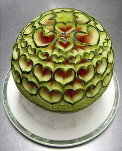 Watermellon Carved by Oona bibi and Cynthia Daniel