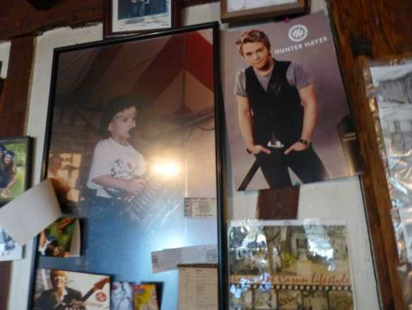 Hunter Hayes Wall at Bayou Boudin Cabins Photo: Maralyn D. Hill