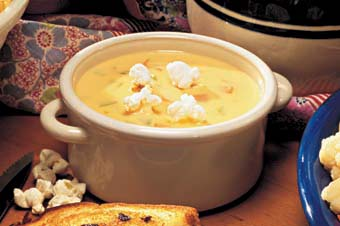 Bubbly Beer Cheese Soup from London Book