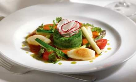 Crustless Spinach & Potato Flan With Spicy Tomato Sauce From Princess Cruises