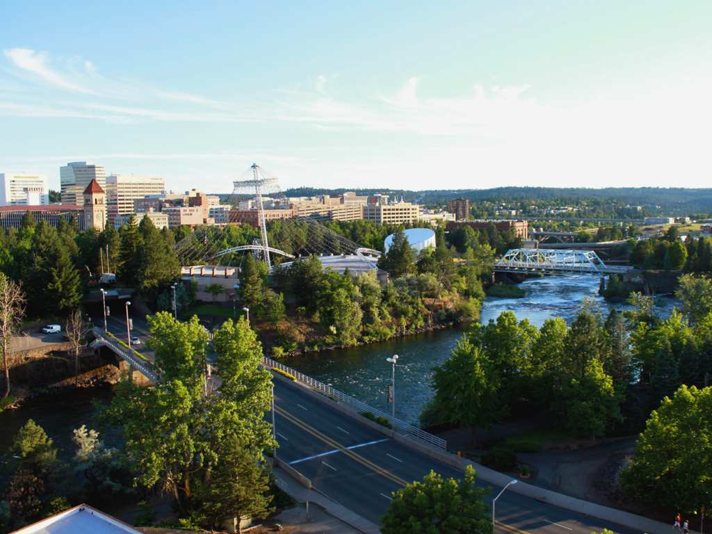 Spokane Aerial view of Riverfront Park