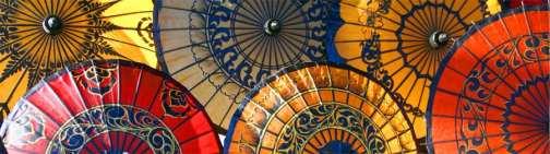 Handcrafted Parasols/myanmarburma.com