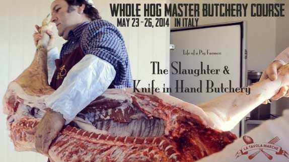 Whole Hog Butchery Course in Italy/ La Tavola Marche