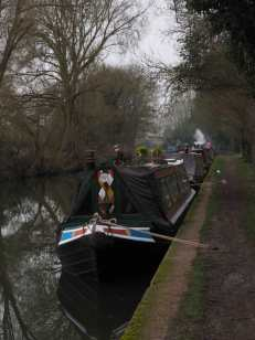 Moored-up-for-winter,-Bulbourne