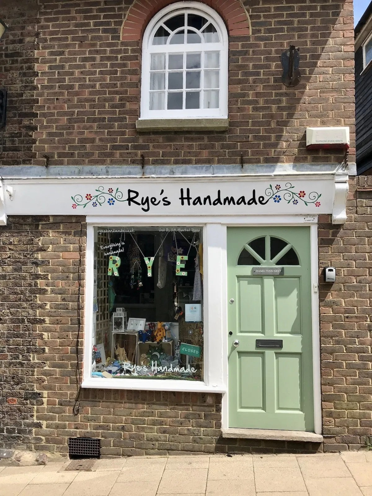 Rye's Handmade shop front