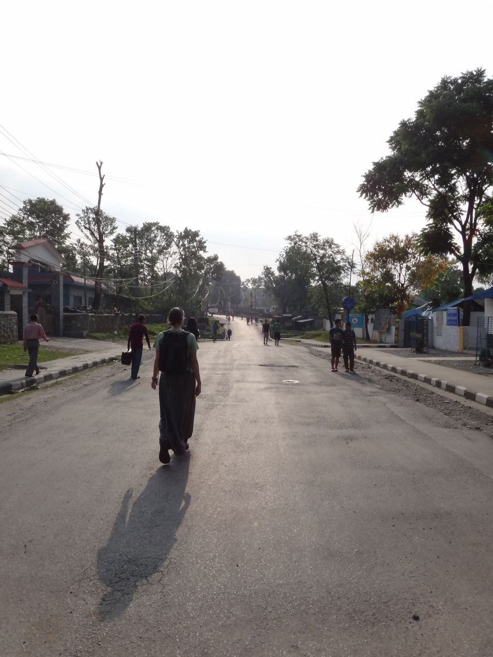 Pokhara. Normally packed streets devoid of vehicles. The bandha meant everyone was walking for another day.