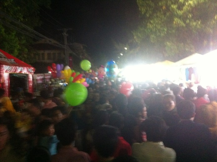 Huge crowds