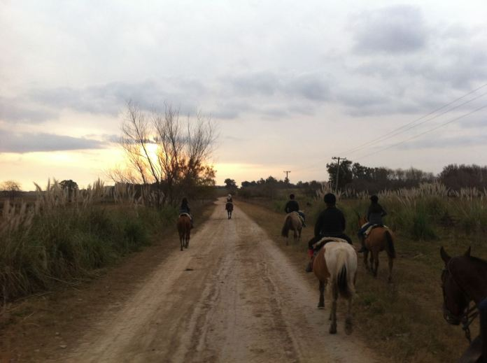 Literally riding off into the sunset...!