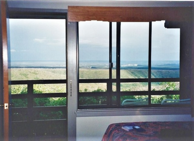 The view from our room window in 1999 at Far View Lodge. We saw bear and an incredible lightning storm from these windows!