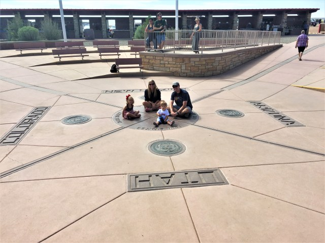 Separated by 4 states at Four Corners National Monument.