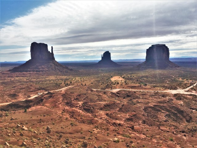 View of Monument Valley from the Visitor Center Balcony