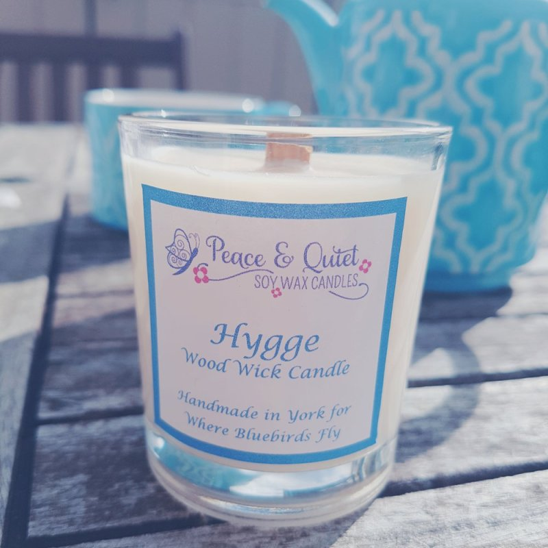 relaxing hygge candle