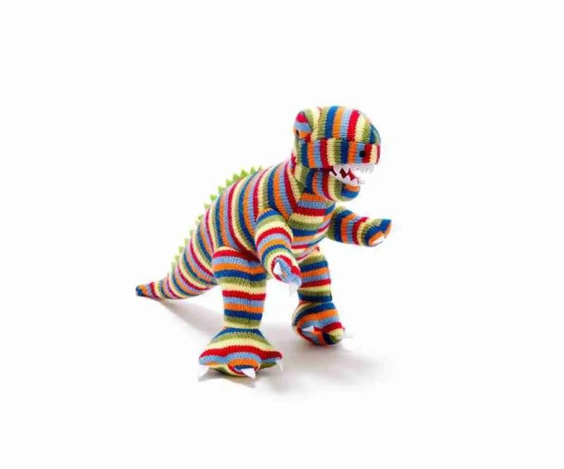 Stripy Dinosaur Rattle T-Rex