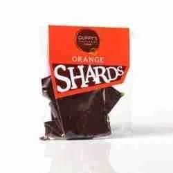Dark chocolate and orange shards