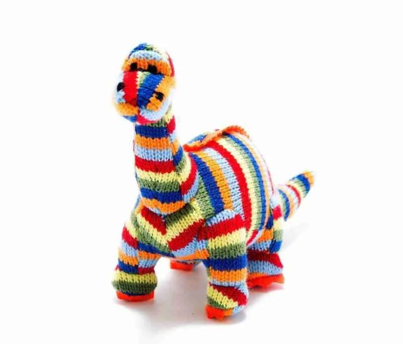 Stripy Dinosaur Rattle Diplodocus