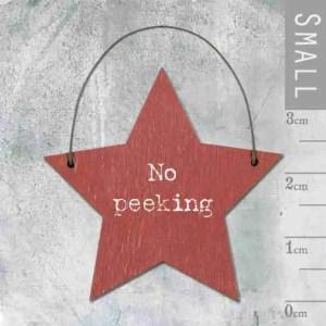 No Peeking Keepsake Star