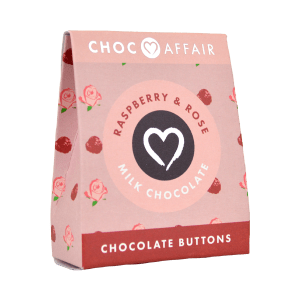 Raspberry and Rose Milk Chocolate Buttons
