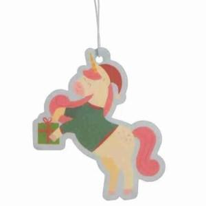 Christmas Unicorn-Cookie Air Freshener