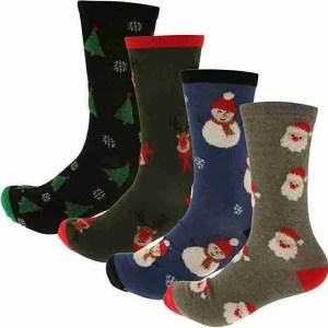 Men's Cotton Rich Christmas Socks