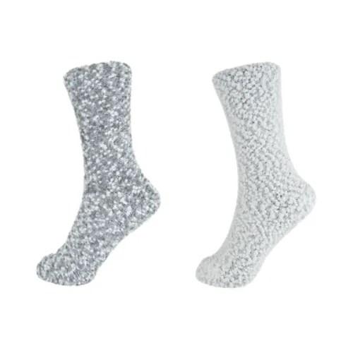 Popcorn Socks- Grey Mix