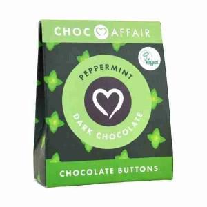 Peppermint Dark Chocolate Buttons