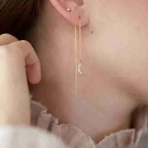 Thread through earrings