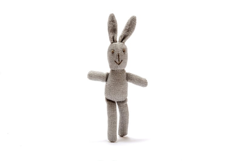 Grey Bunny Rattle
