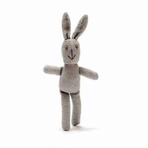 Organic Cotton Bunny- Baby Rattle