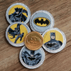 Batman Chocolate Coins with Stickers