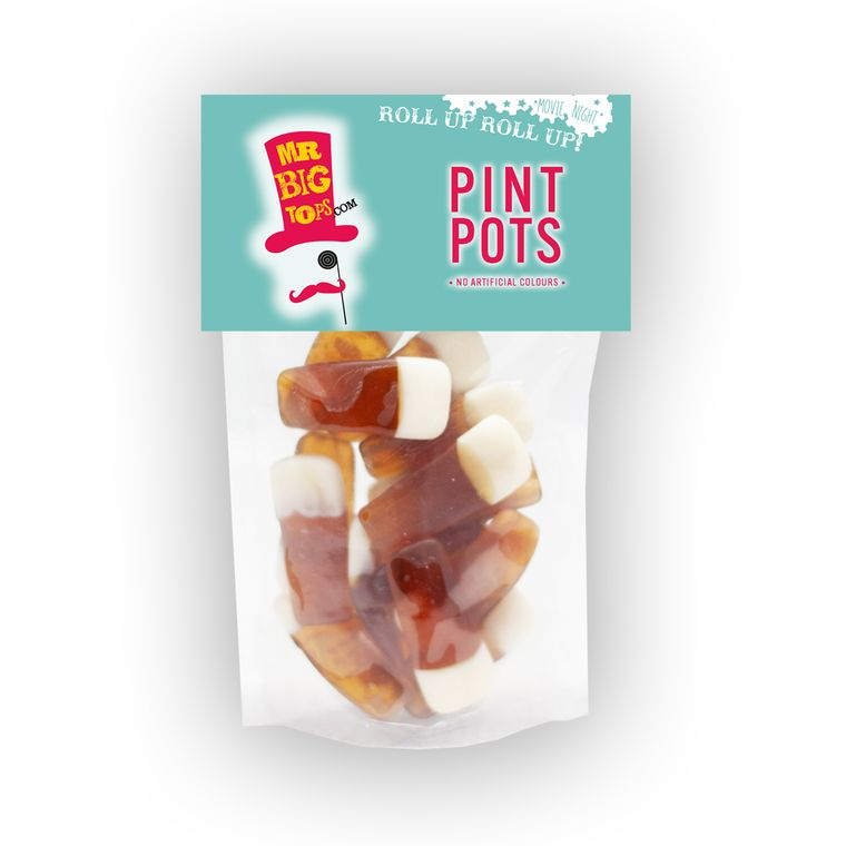 Pint Pots Gummy Sweets, 150g pack