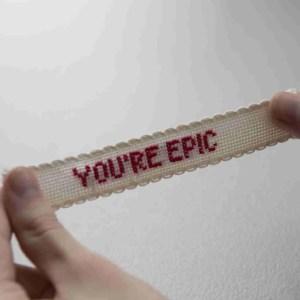 Secret message cross stitch kit