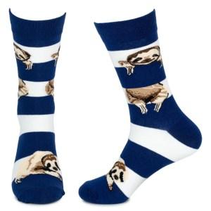 Sloth Socks- Blue and White