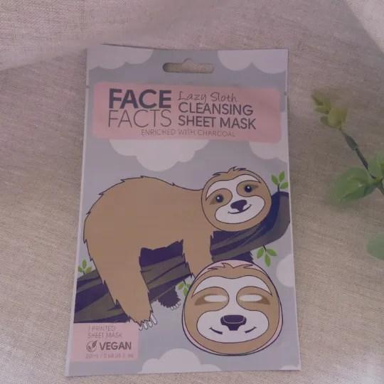 Sloth Face Sheet
