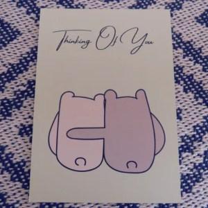 Thinking Of You, Sending Hugs- Postcard Print