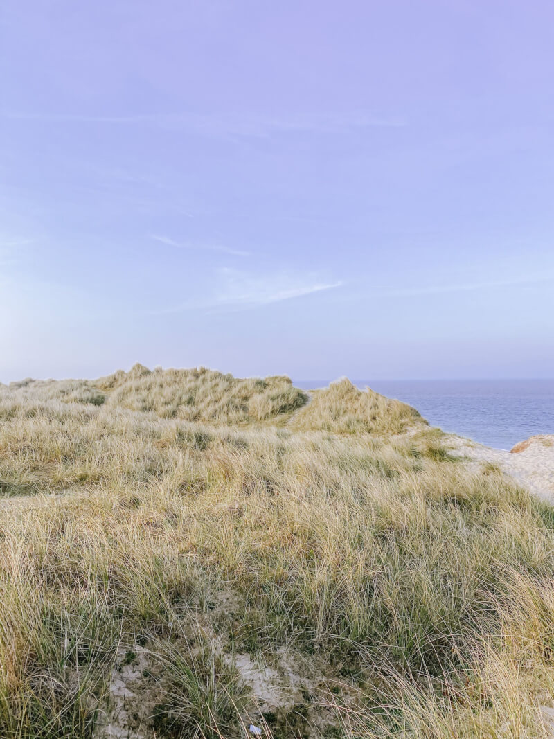 image of sea and sky at winterton on sea