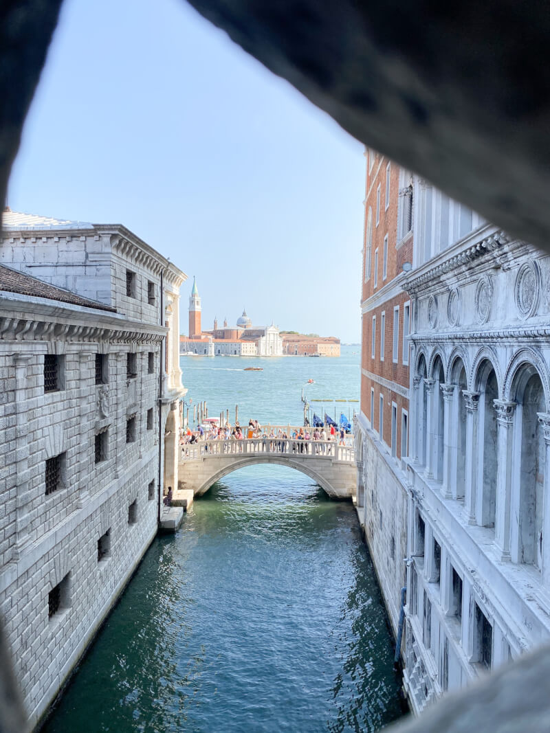 image from the Bridge of Sighs, Venice