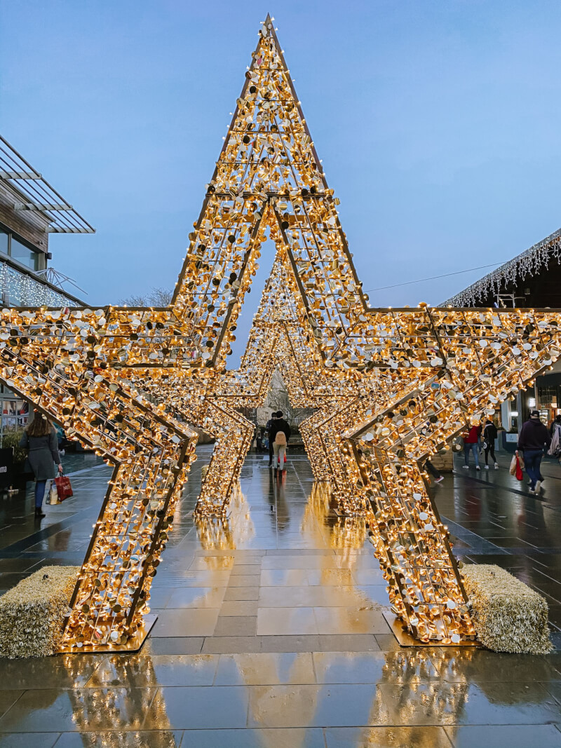 image of Christmas stars at Chantry Place, London