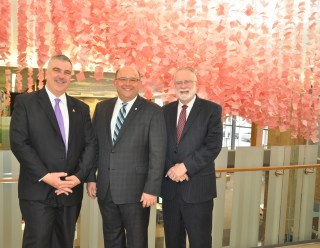 The three city mayors of Waterloo Region: Dave Jaworsky of Waterloo, Berry Vrbanovic of Kitchener, and Doug Craig of Cambridge.
