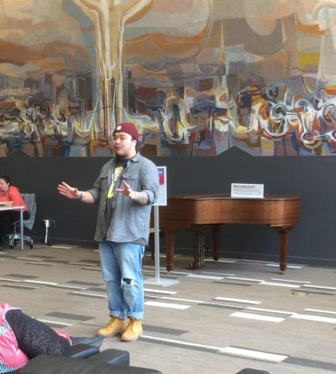 National poetry slam champion Patrick de Belen performed & hosted a workshop.
